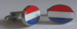 Netherlands Country Flag Cufflinks